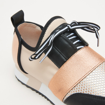 STEVE MADDEN Mesh Detail Sneakers with Laces