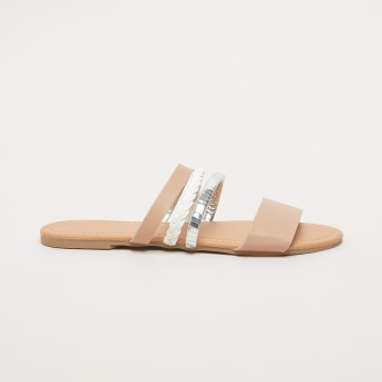 Embellished Slides with Multiple Straps