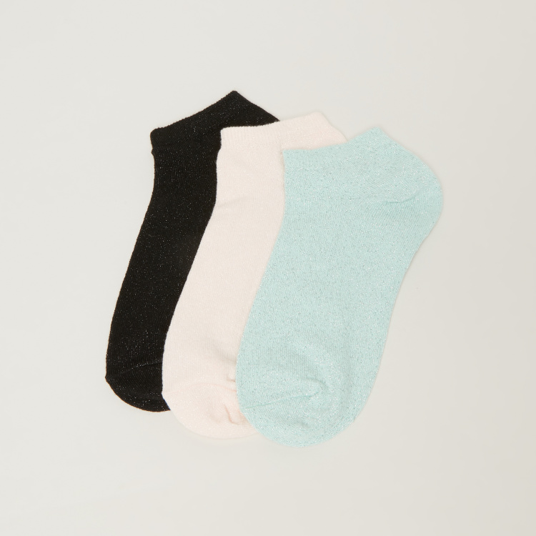 Paprika Ankle Length Socks - Set of 3