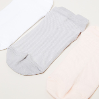 Textured Ankle Length Socks - Set of 3
