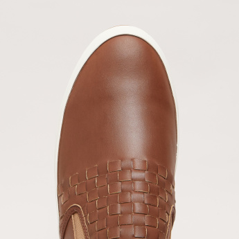 Lee Cooper Weave Detail Slip-On Shoes with Elasticised Gussets