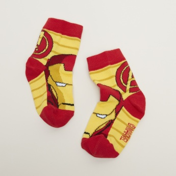 Iron Man Printed Ankle Length Socks