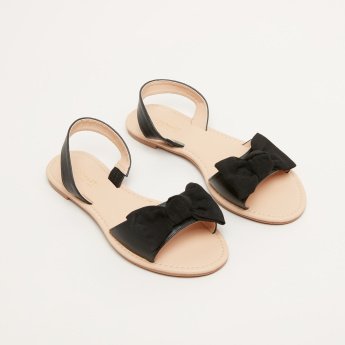Bow Detail Sling Back Sandals