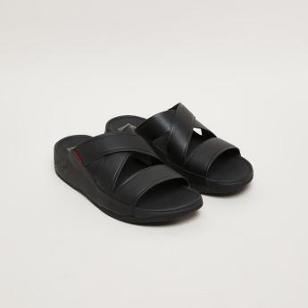 FitFlop Slides with Crossed Straps