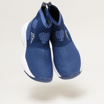 Kappa Knitted High Top Slip-On Shoes
