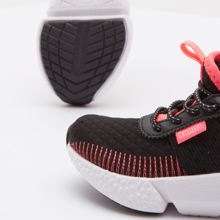 Kappa Girls' Quilted and Stitched Running Shoes with Elastic Laces