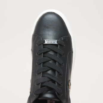 STEVE MADDEN Applique Detail Lace-Up Sneakers