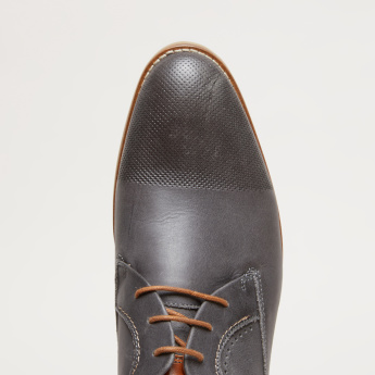 Perforated Derby Shoes with Lace-Up Closure