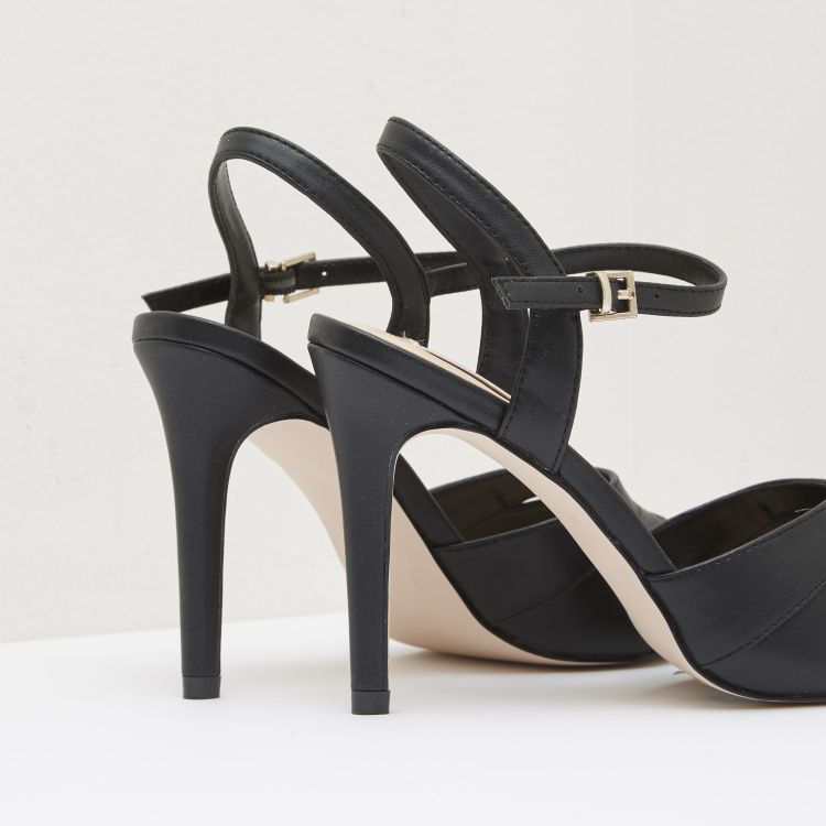 Ankle Strap Sandals with Stiletto Heels