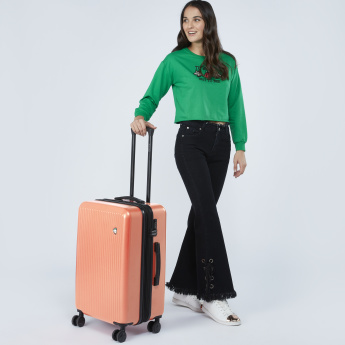 Mia Toro Textured Travelling Bag with 4 Wheels