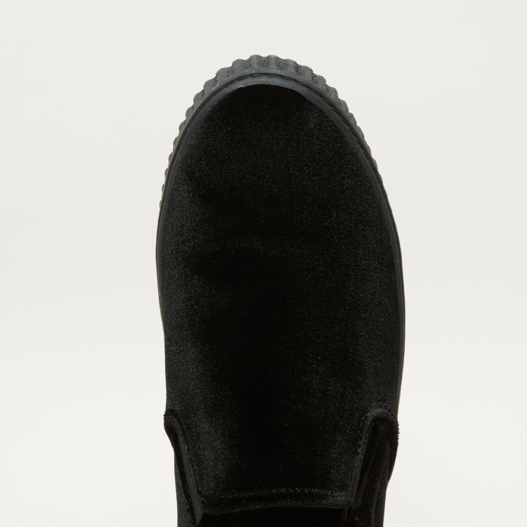 Lee Cooper Textured Slip-On Shoes with Elasticised Gussets