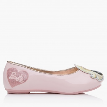 Barbie Applique Slip-On Ballerina Shoes