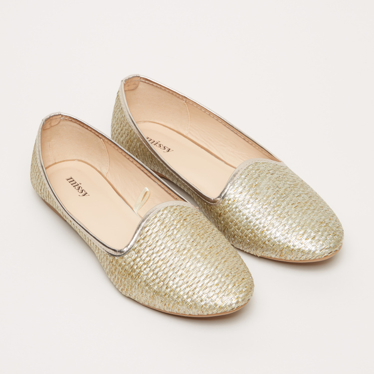 Missy Textured Slip-On Ballerina Shoes
