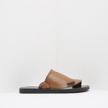 Al Waha Textured Arabic Leather Slides