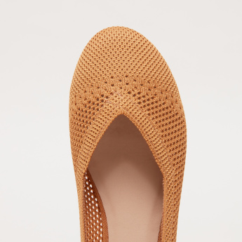 Knitted Slip-On Ballerina Shoes
