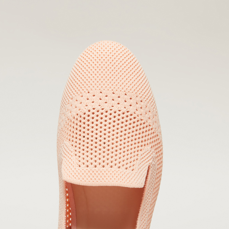 Missy Laser Cut Detail Slip-On Ballerina Shoes