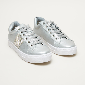 Celeste Studded Lace-Up Sneakers