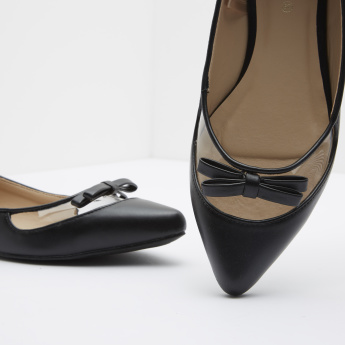 Slip-On Ballerinas with Bow Detail