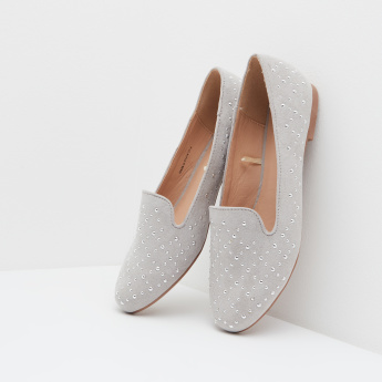 Studded Ballerina with Slip-On Closure