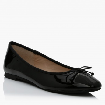Missy Slip-On Ballerina Shoes with Bow Detailing