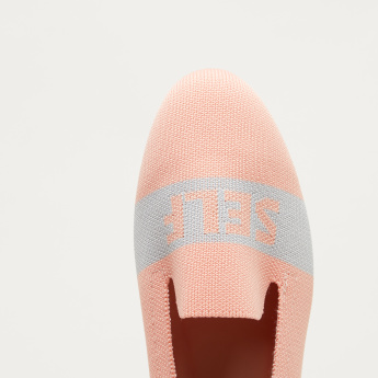 Textured Slip-On Ballerinas