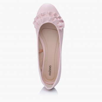 Missy Slip-On Shoes with Ruffle Detail