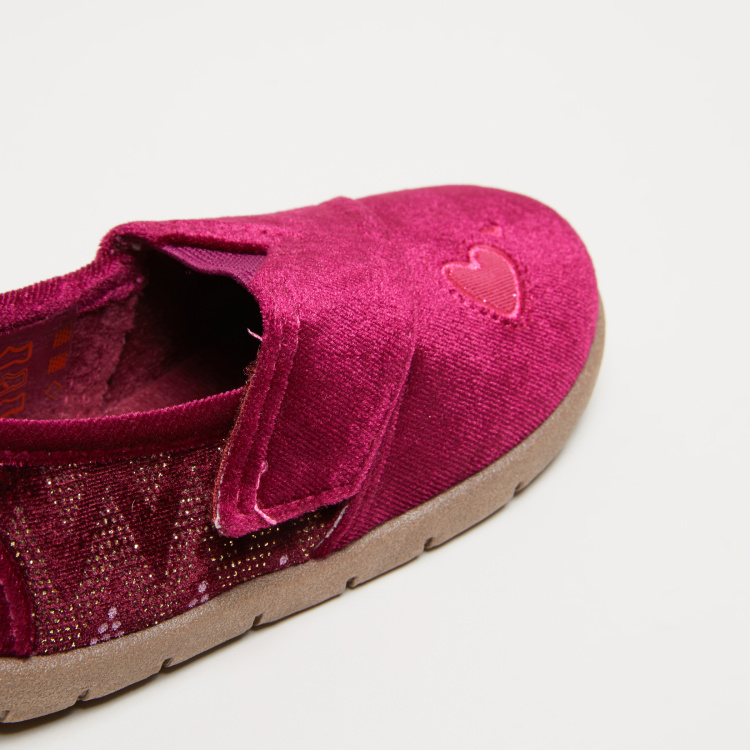 Textured Stitch Detail Slip-On Shoes with Elasticised Gussets