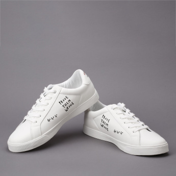 #tag18. Printed Lace-Up Sneakers