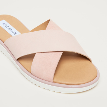 STEVE MADDEN Cross Strap Slides