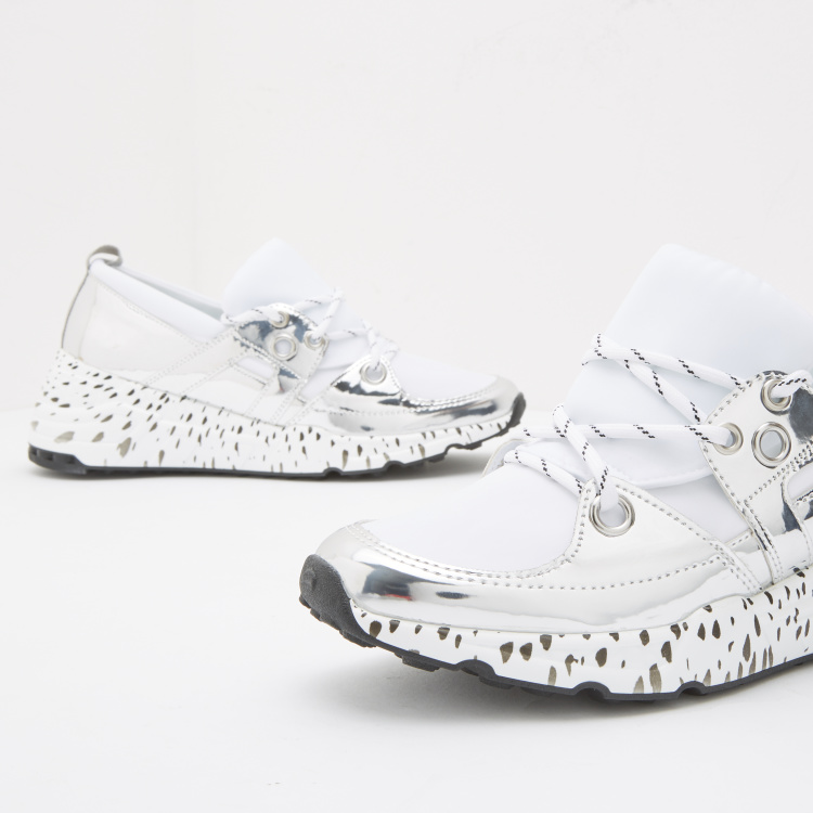 Lee Cooper Printed Panelled Huarache Shoes