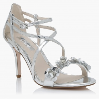 Embellished Stilletos with Buckle Closure
