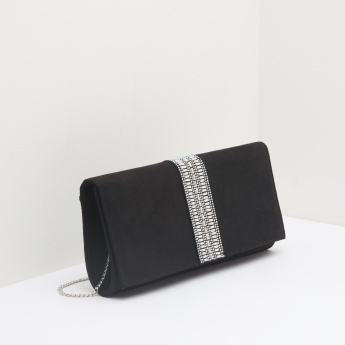 Celeste Diamante Clutch with Magnetic Snap Closure