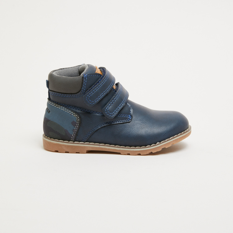 Lee Cooper Hook and Loop High Top Boots