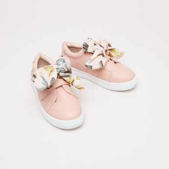 Printed Bow Detail Sneakers