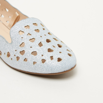 Little Missy Cutout Ballerina Slip-On Shoes