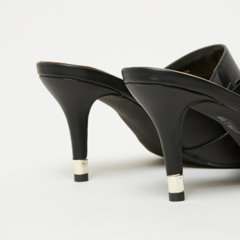 Knot Detail High Heel Slides