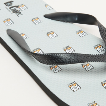 Lee Cooper Printed Flip Flops with Textured Straps