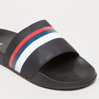 Kappa Striped Slides with Textured Footbed