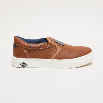 Lee Cooper Perforated Slip-On Shoes with Elasticised Gussets