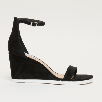 STEVE MADDEN Ankle Strap Wedges with Buckle Closure
