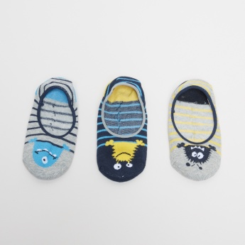 Juniors Printed No Show Socks - Set of 3