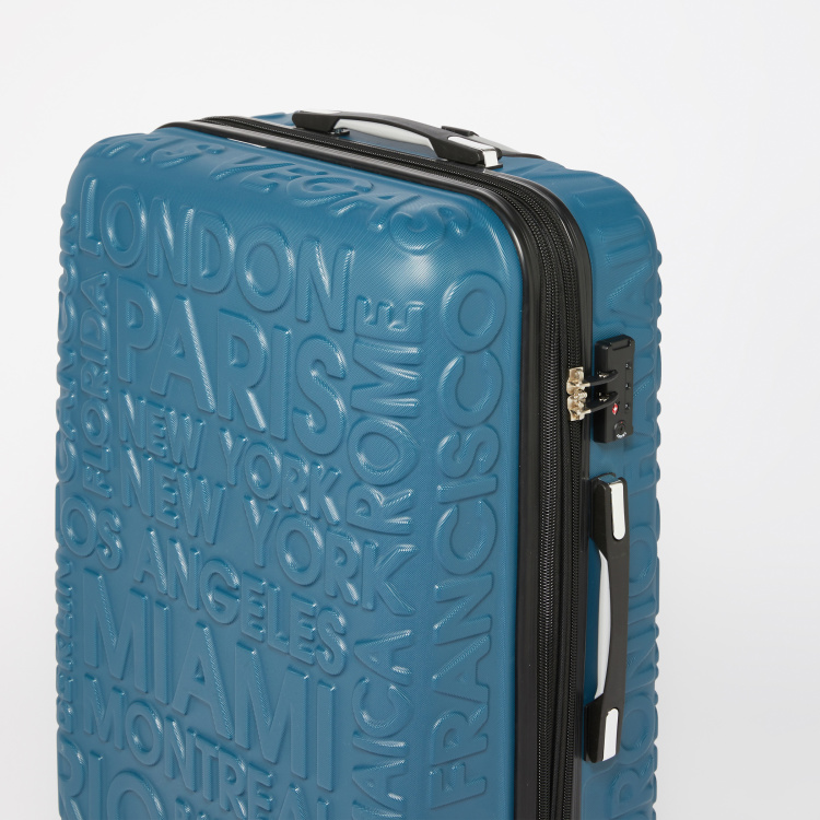 it luggage Textured Trolly Bag with Retractable Handle