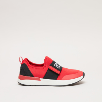 Slip-On Sneakers with Printed Vamp Band