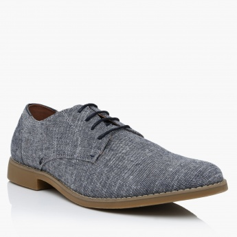 Lee CooperTextured Lace-Up Shoes