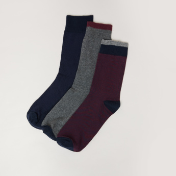 Duchini Assorted Crew Length Socks - Set of 3