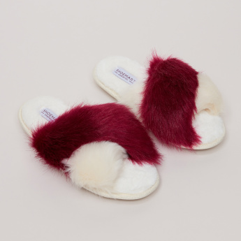 Plush Cross Strap Indoor Slides