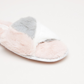 Indoor Slides with Plush Detail