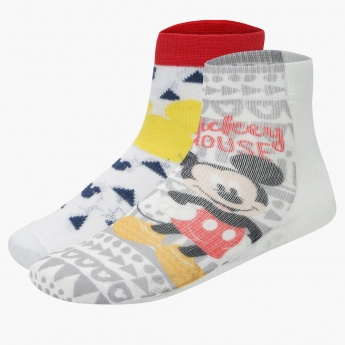 Mickey Mouse Printed Ankle Length Socks