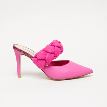 Elle Braid Detail Slides with Stiletto Heels