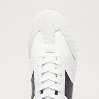 Lee Cooper Lace-Up Sneakers with Embossed Brand Logo